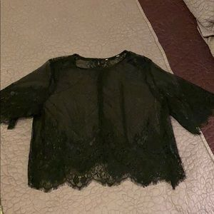 H&M sheer lace top